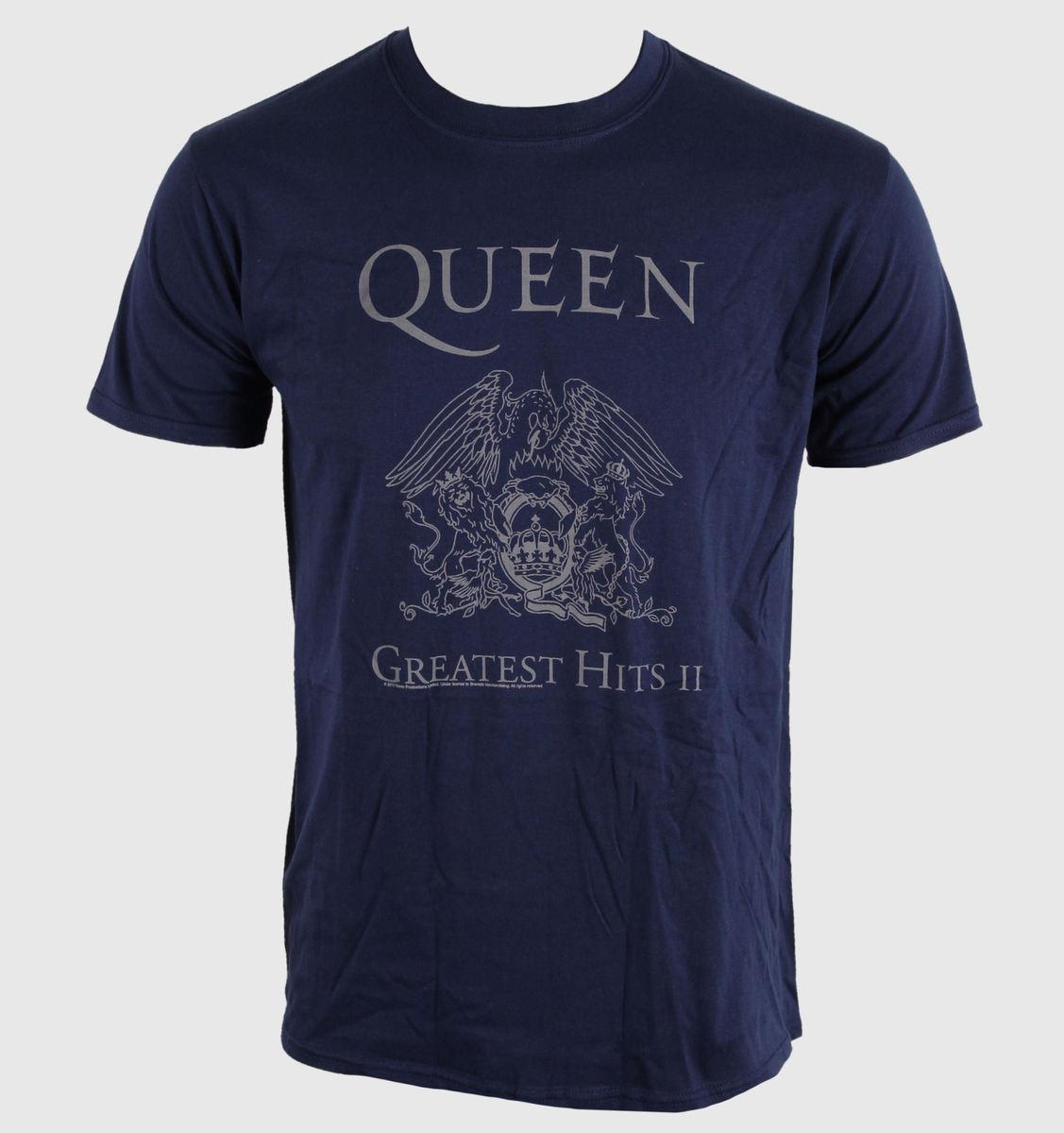 tričko pánské Queen - Greatest Hits II - Navy - BRAVADO EU - QUTS10MBL