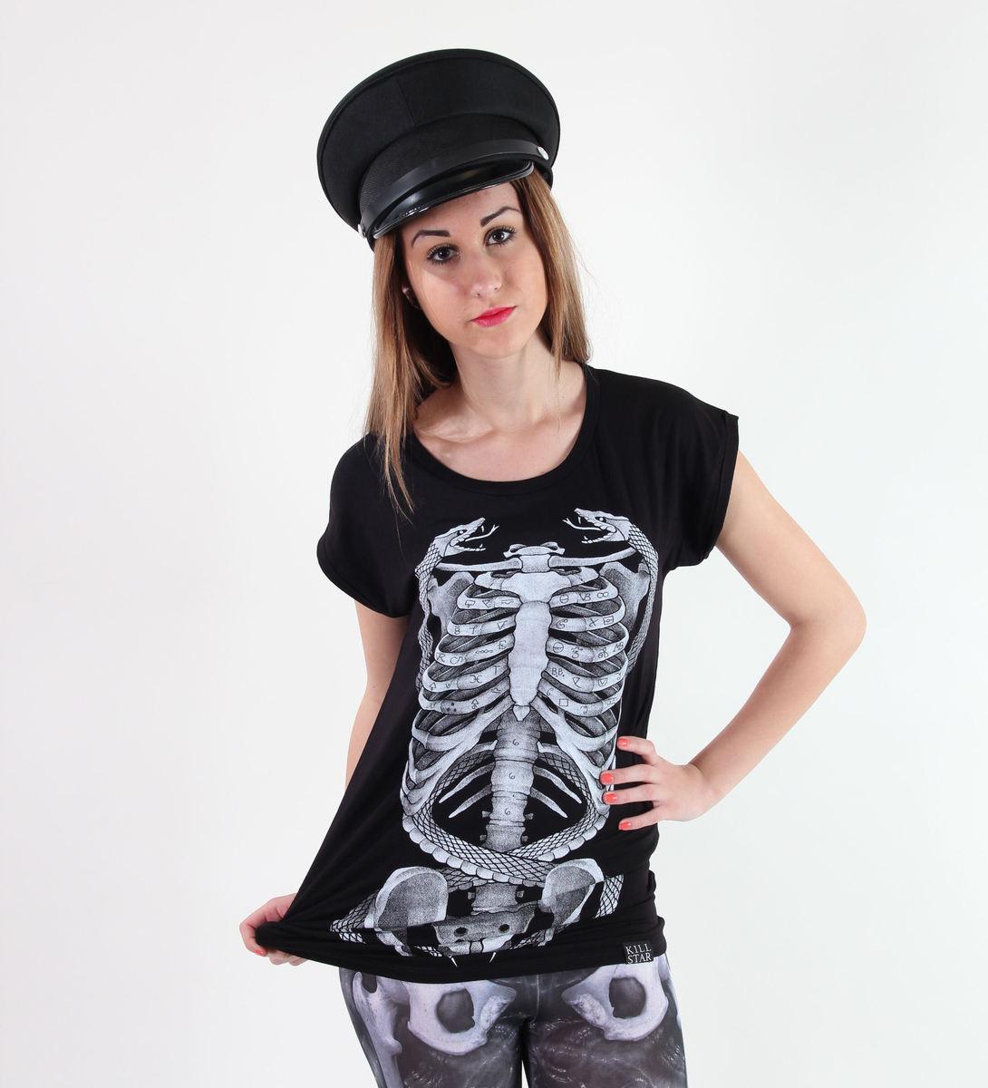 tričko dámské (tunika) KILLSTAR - Ribcage - Black