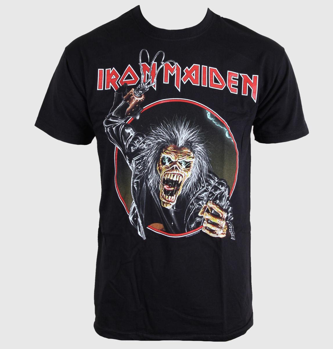 tričko pánské Iron Maiden - Eddie Hook - Black - BRAVADO EU - IMTEE29MB
