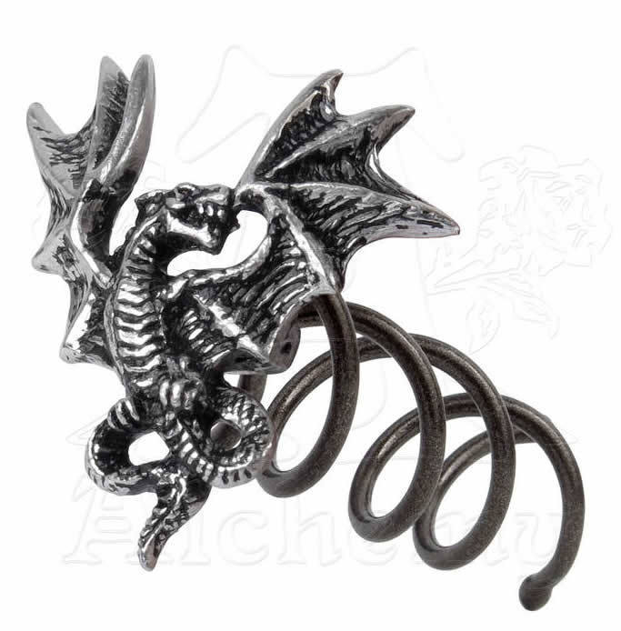 sponka do vlasů Smoke Dragon - ALCHEMY GOTHIC - HSC1