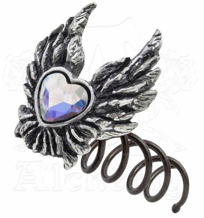 sponka do vlasů Heart of an Angel - ALCHEMY GOTHIC - HSC2