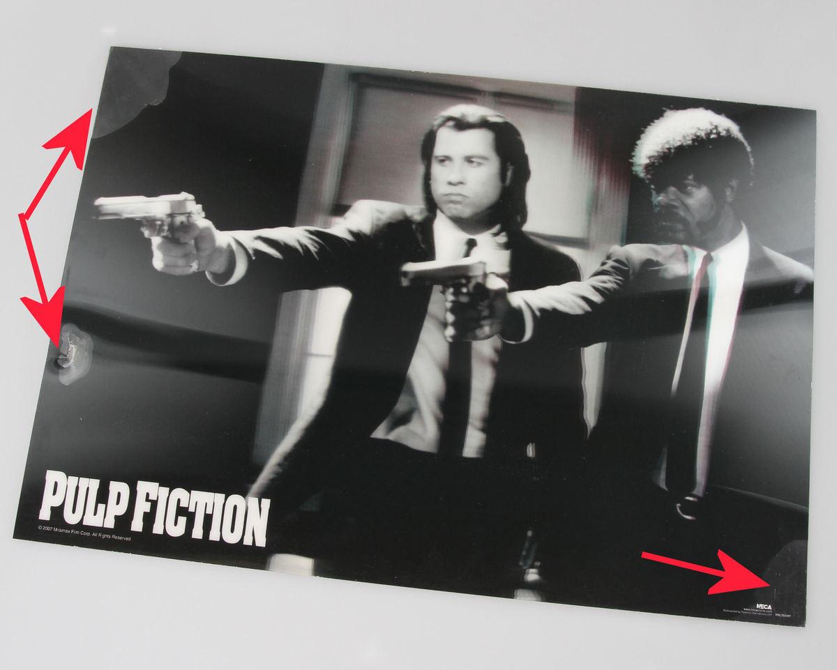 obraz 3D Pulp Fiction - Guns - Pyramid Posters - PPL70097 - POŠKOZENÝ