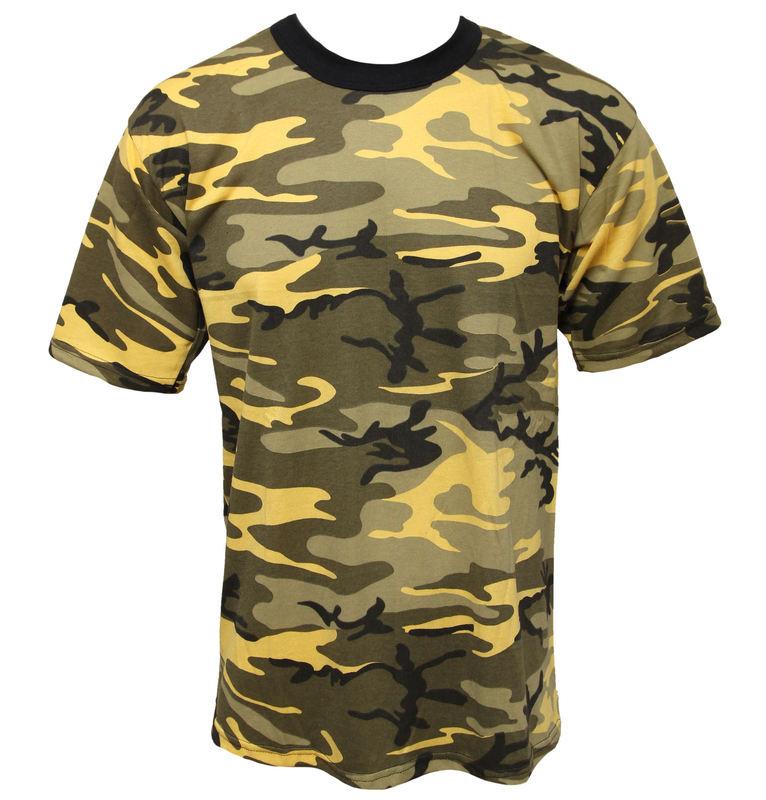 tričko maskáčové - zelené