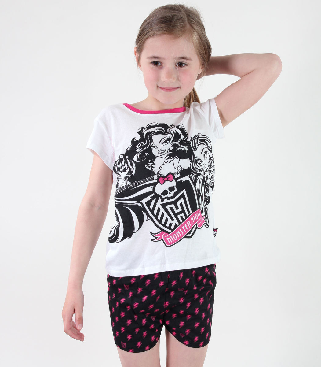 pyžamo dívčí TV MANIA - Monster High - White - MOH 578 10140