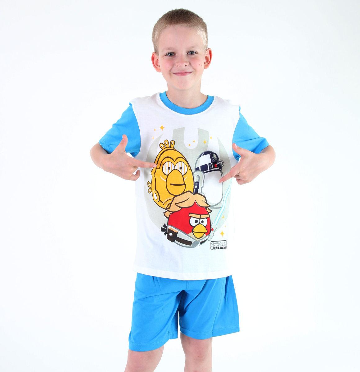 pyžamo chlapecké TV MANIA - Angry Birds / Star Wars - White - SWAB 330 10/140