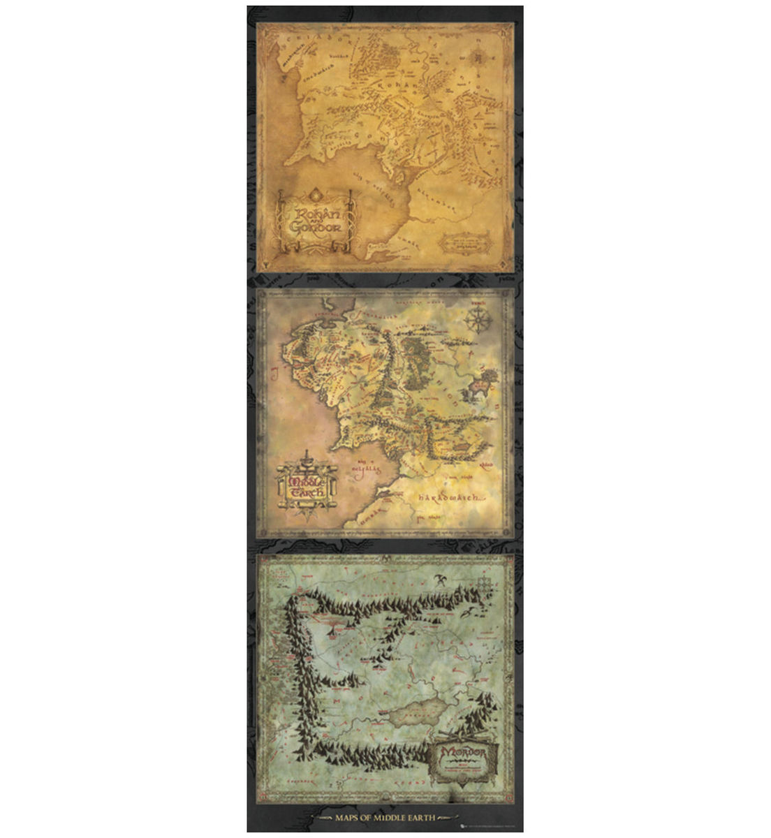 plakát Lord of the Rings - Maps of Middle Earth - GB posters - DP0455
