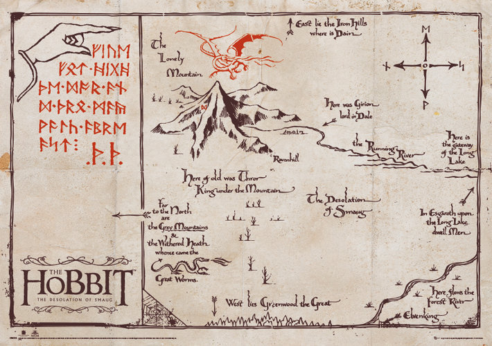 mapa Hobit - Mountain Map Parchment - GB posters - SPM003