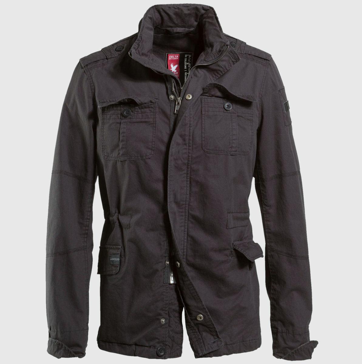 bunda pánská jarně-podzimní SURPLUS - Delta Britannia - Black Gewas - 20-3527-63