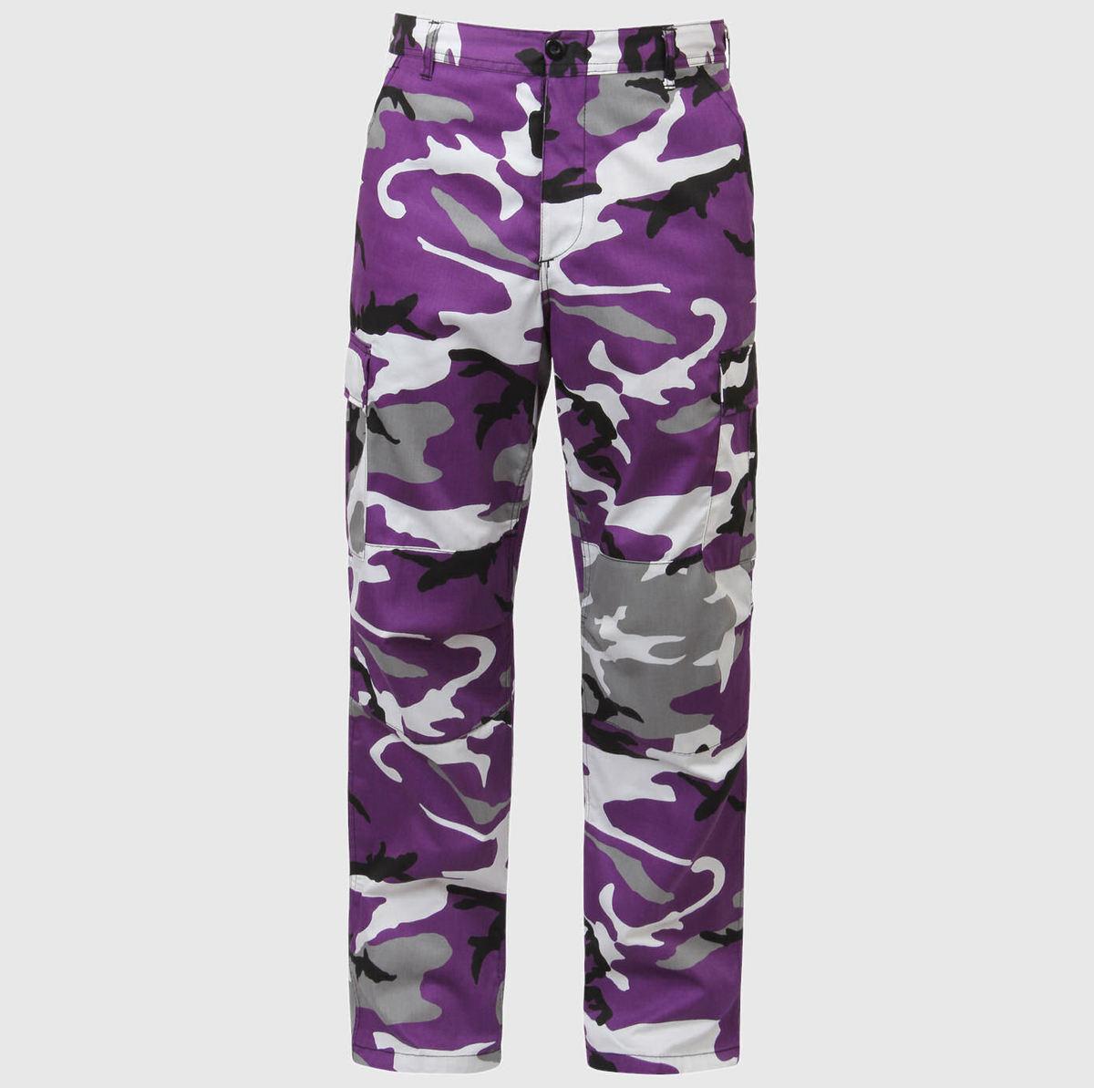 kalhoty pánské ROTHCO - BDU PANT - ULTRA VIOLET CAMO - 7925