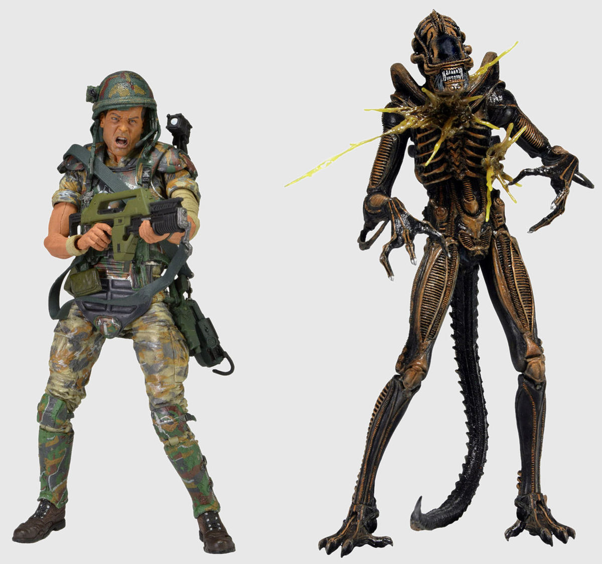 figurka Alien Action - Hudson vs. Battle Damaged Brown Warrior - NECA51397