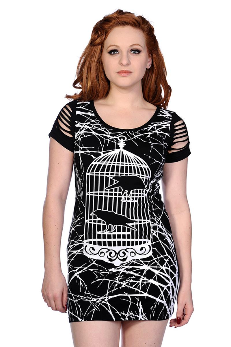 šaty dámské (tunika) BANNED - Birdcage - Black - OBN143BLK 10