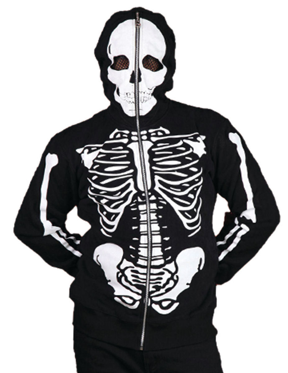 mikina pánská BANNED - Skeleton - Black - HBN025M