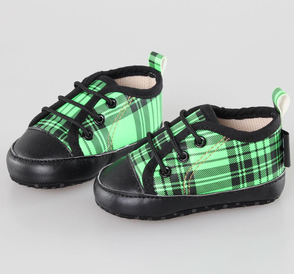 boty dětské LITTLE DIAMOND - Black/Green - 59137-011 - MBM