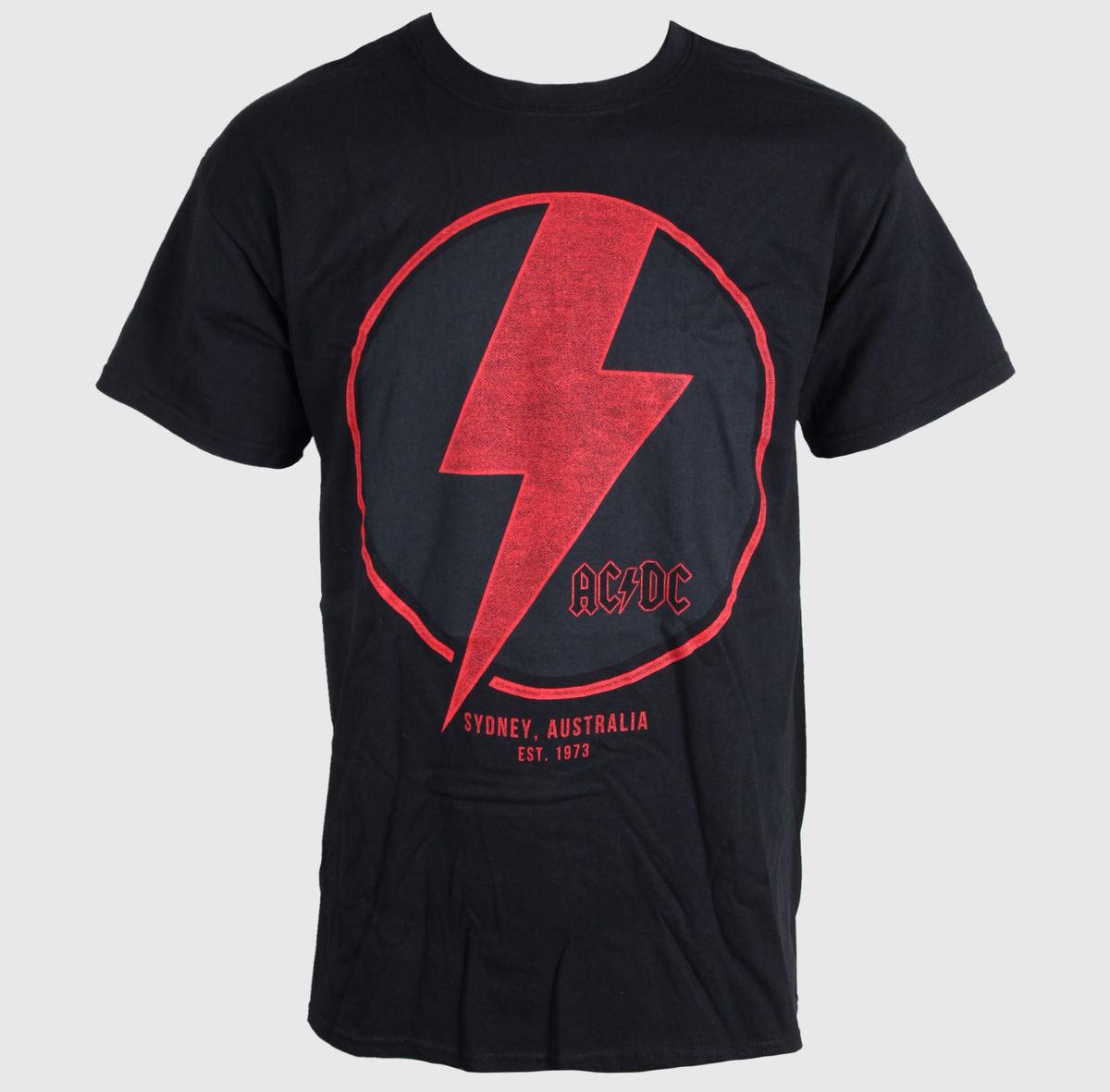 tričko pánské AC/DC - SYDNEY - BLACK - LIVE NATION - PEACD068