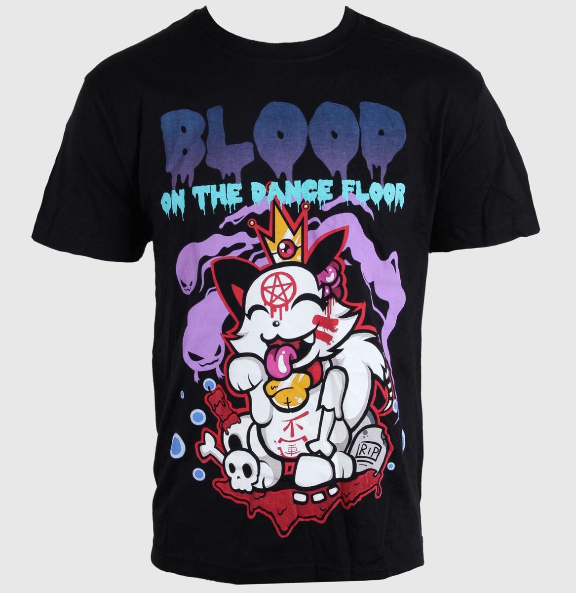 tričko pánské BLOOD ON THE DANCE FLOOR - UNLUCKY CAT - BLACK - LIVE NATION - PE11214TSBP