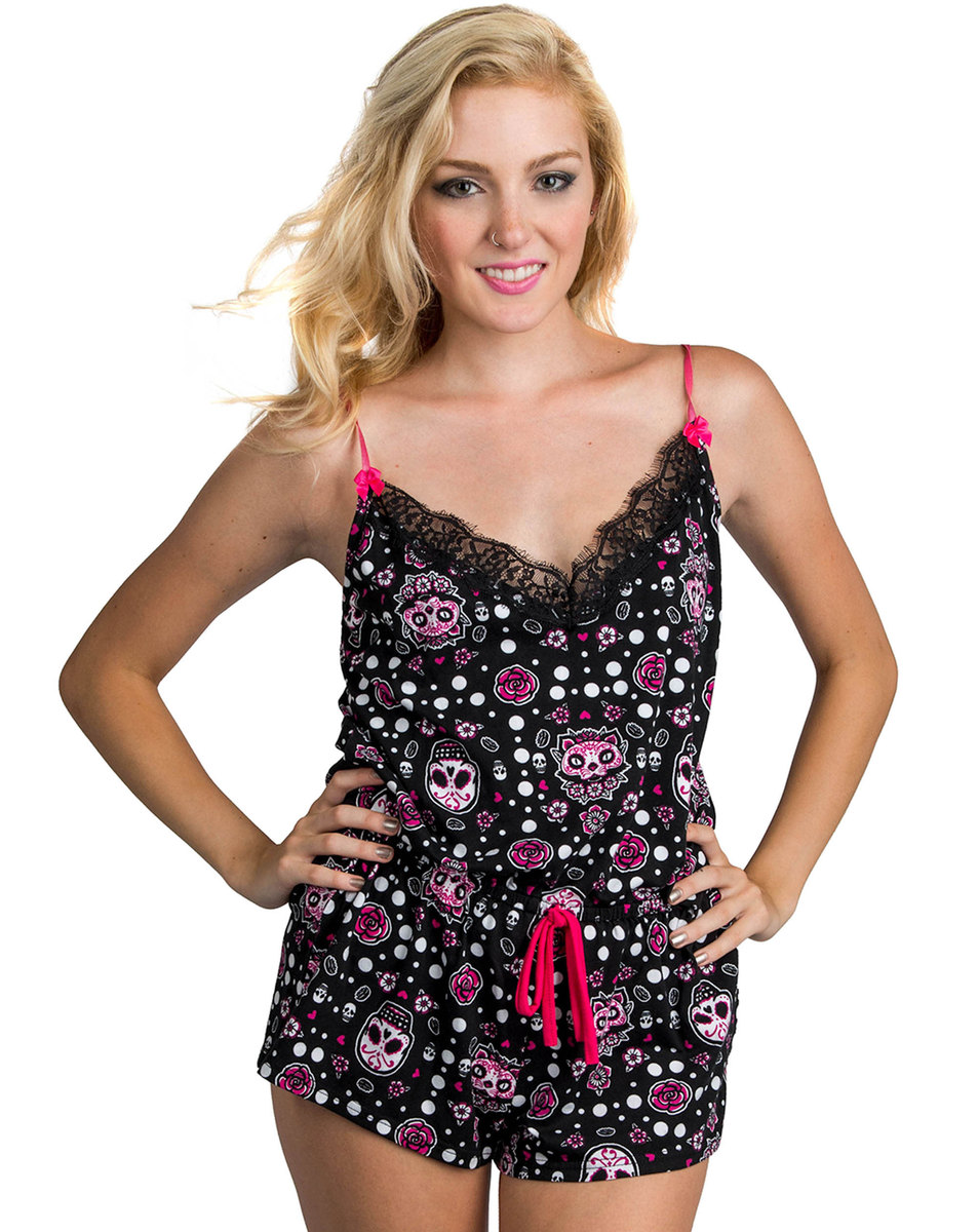 overal dámský (pyžamo) TOO FAST - Muerta Cat - Multi - WPJWE-MRTCT