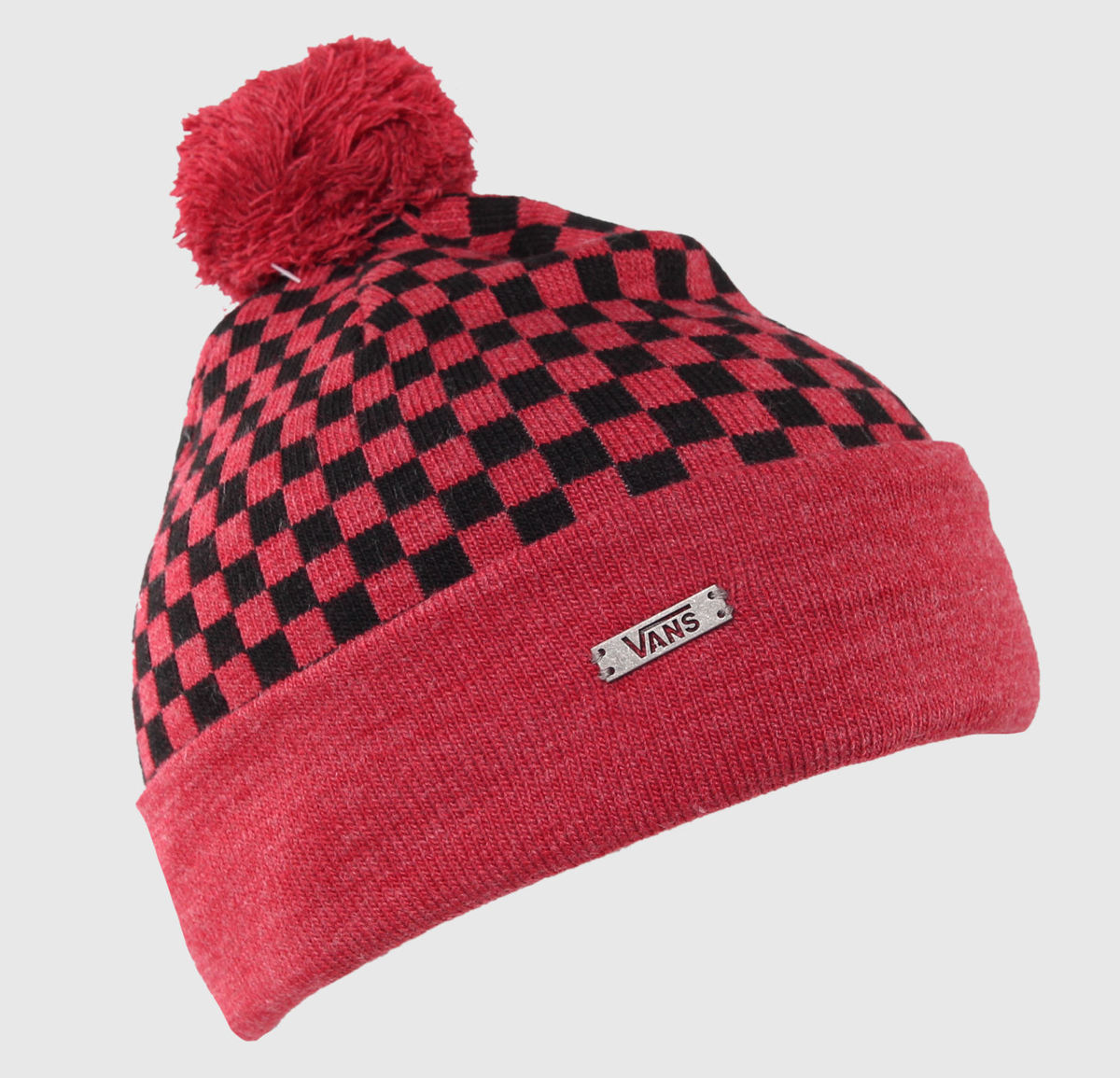 kulich VANS - Checkerboard Pom P - Heather Red - VXRVE66