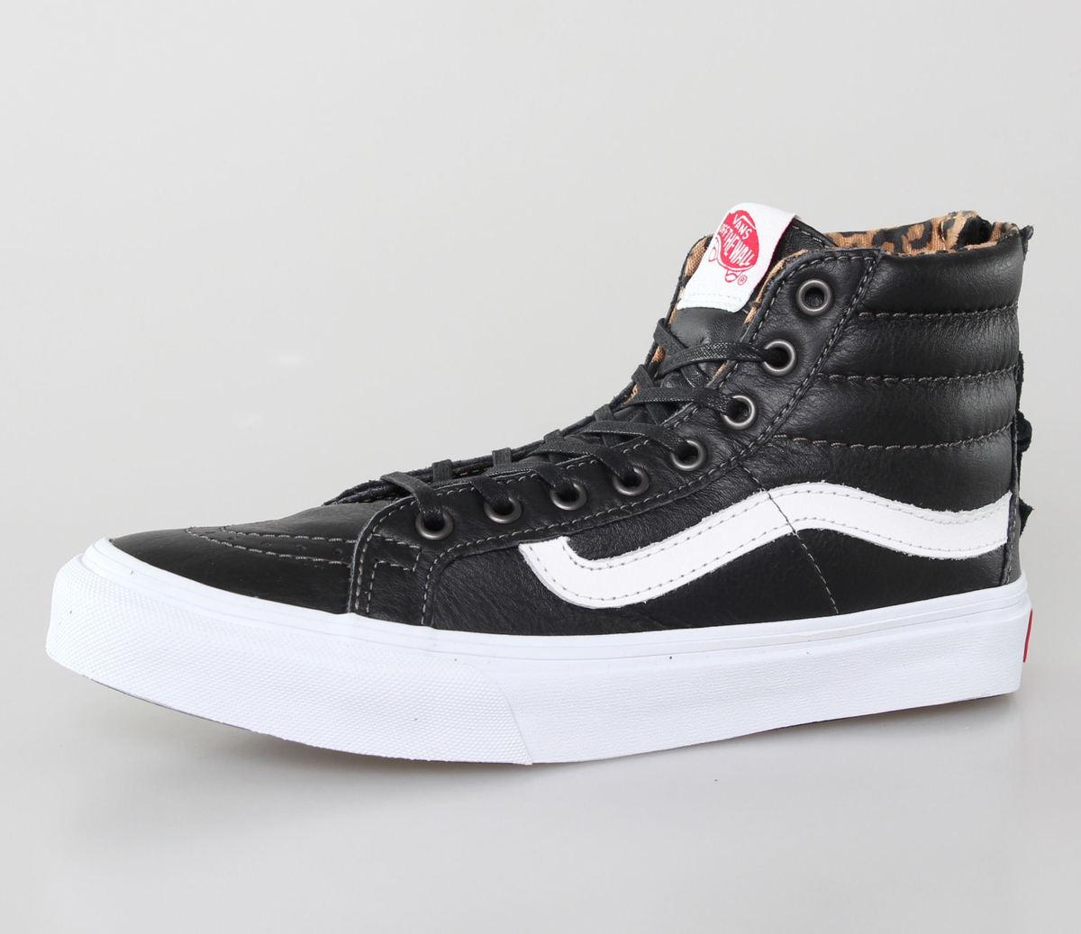 boty dámské VANS - U SK-Hi Slim Zip - Leather - BLACK-LEOPARD - VXH8DU1