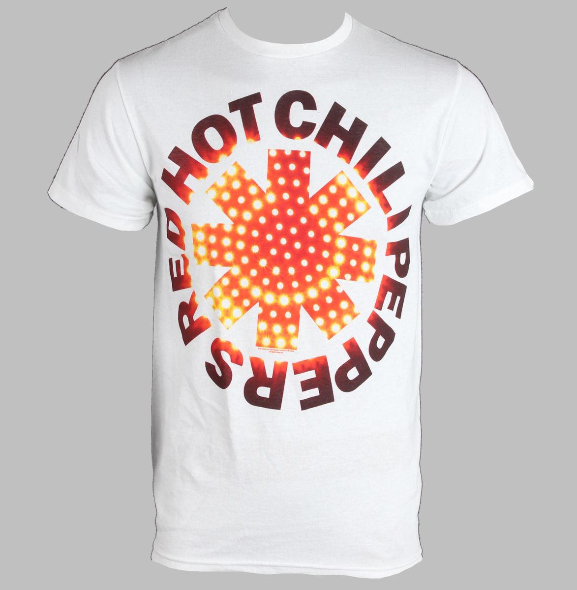 tričko pánské Red Hot Chili Peppers - Led Asterisk - White - BRAVADO - RHP1208
