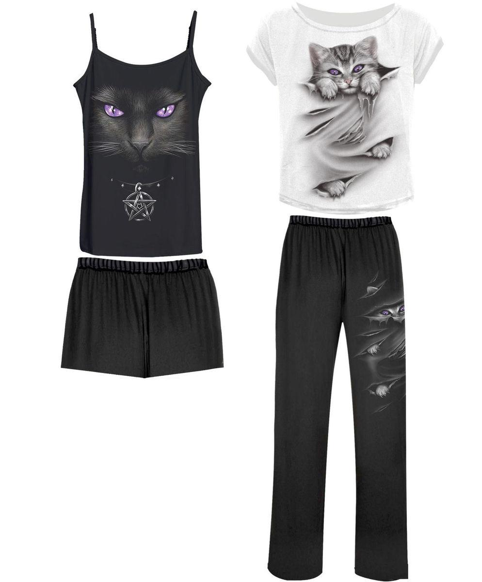 komplet na spaní dámský (pyžamo) SPIRAL - BRIGHT EYES - F011G601 S