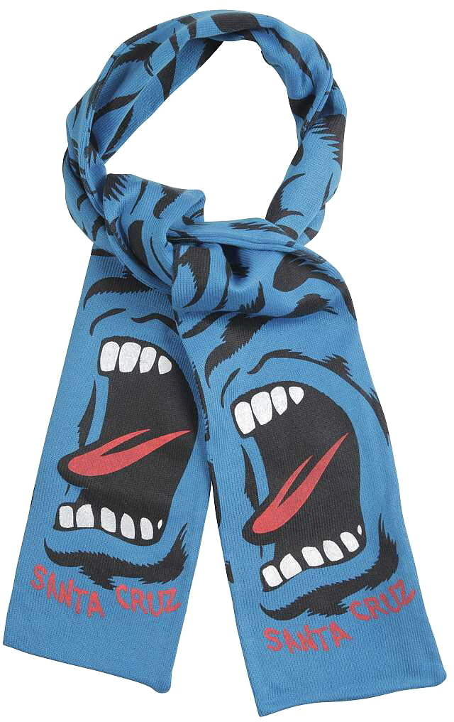 šál SANTA CRUZ - Screaming Camo Scarf - Blue - AMSCA F14