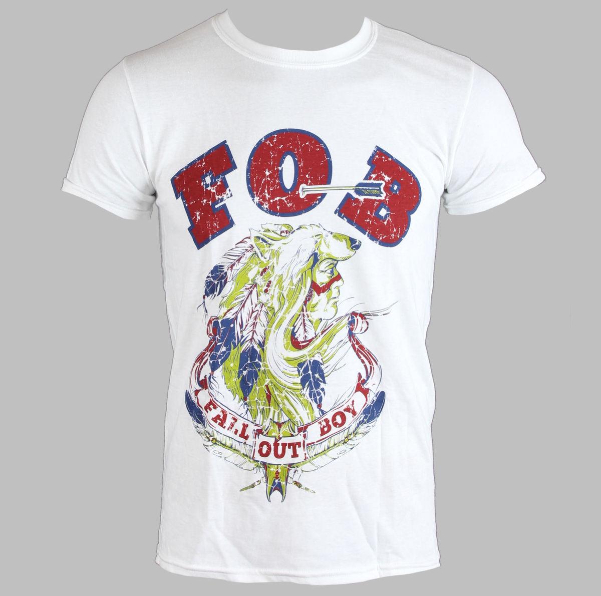 tričko pánské FALL OUT BOY - NATIVE WOLF - WHITE - LIVE NATION - PE11616TSWP
