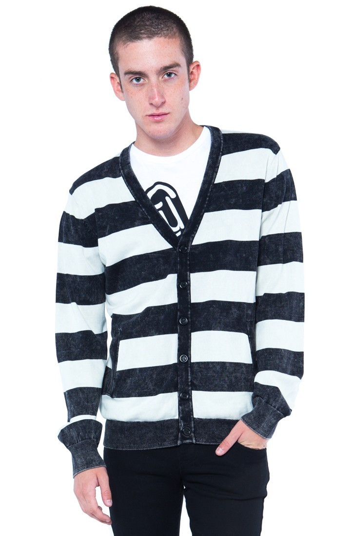 svetr (unisex) IRON FIST - STRIPED - BLACK - IFUSWT064