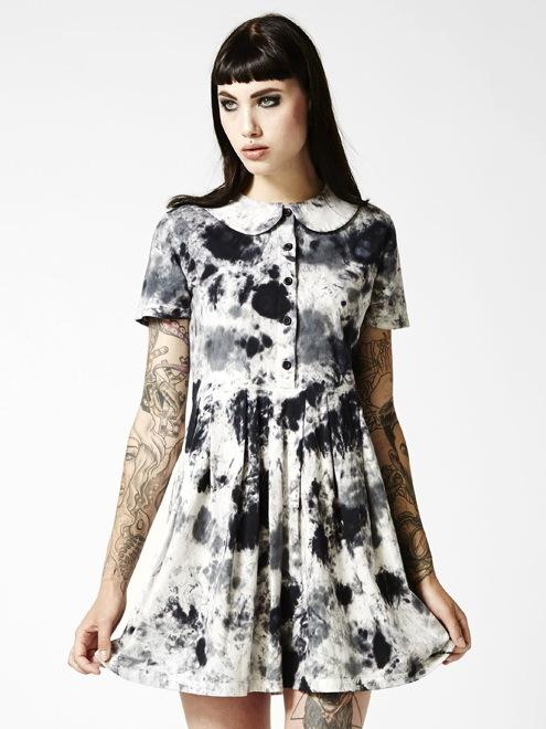 šaty dámské DISTURBIA - Storm - Black/White/Pink - DIS431 M