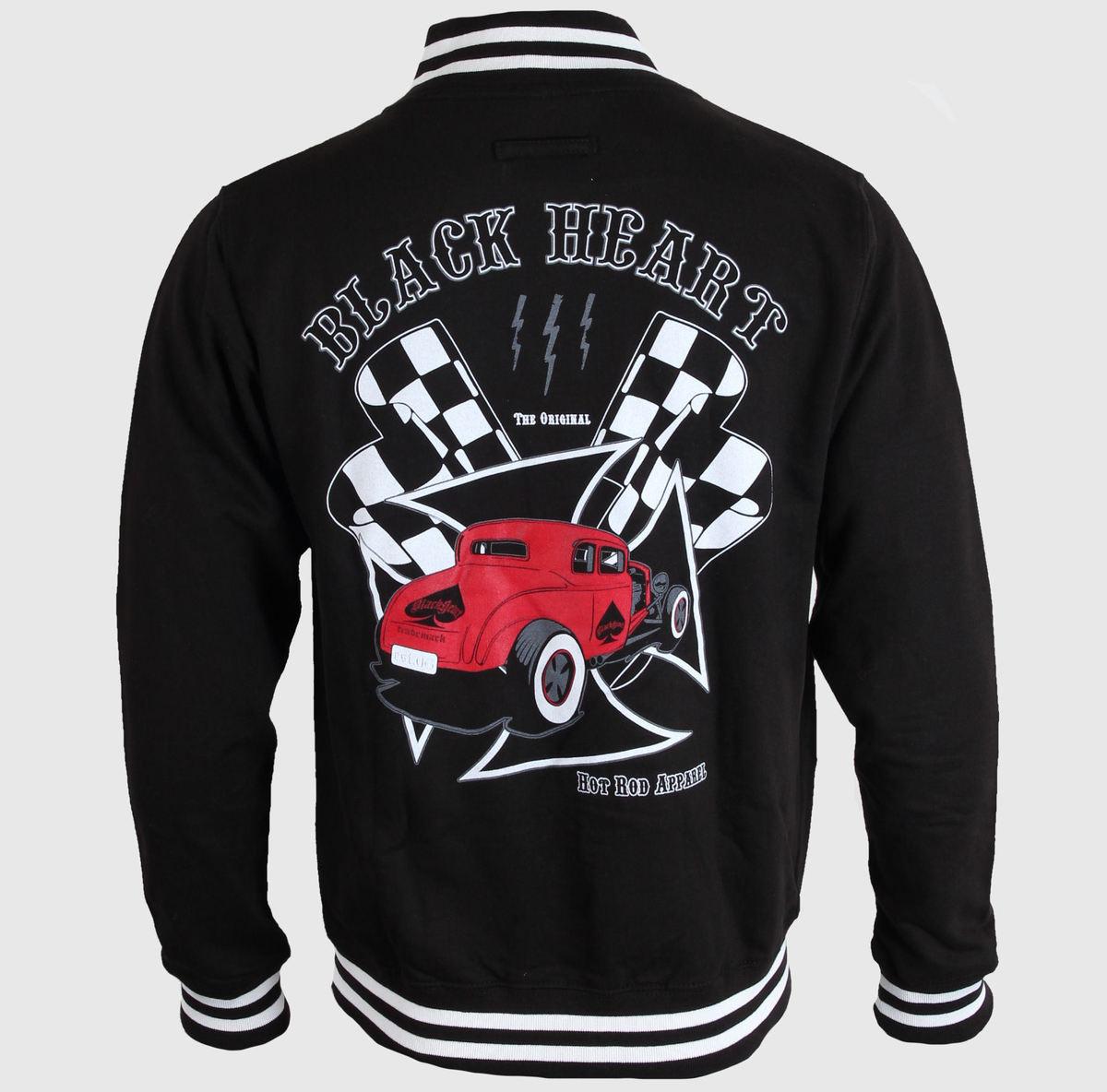 mikina pánská Baseball BLACK HEART - Red Coupe - Black
