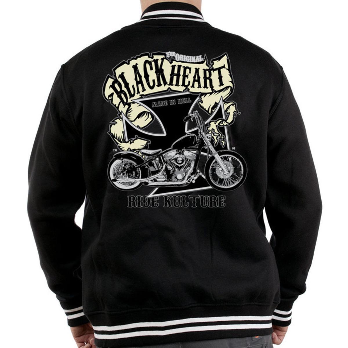 mikina pánská Baseball BLACK HEART - Motorcycle K. - Black