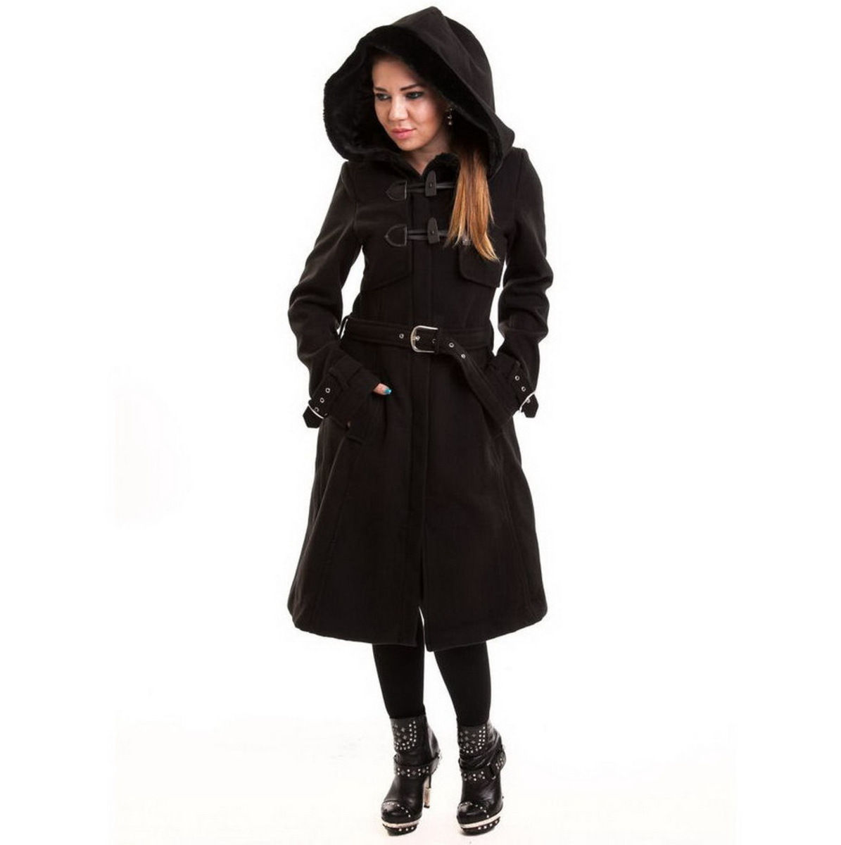 kabát dámský zimní POIZEN INDUSTRIES - Moana Coat - Black