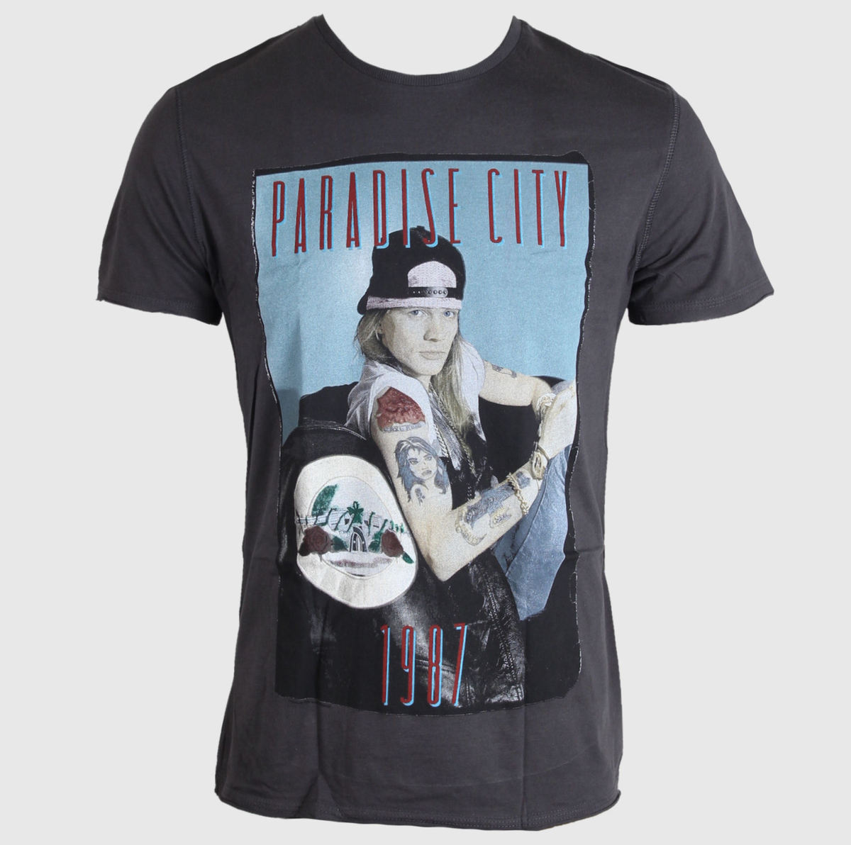 tričko pánské Guns N´Roses - Paradise City - AMPLIFIED - Charcoal - AV306G87