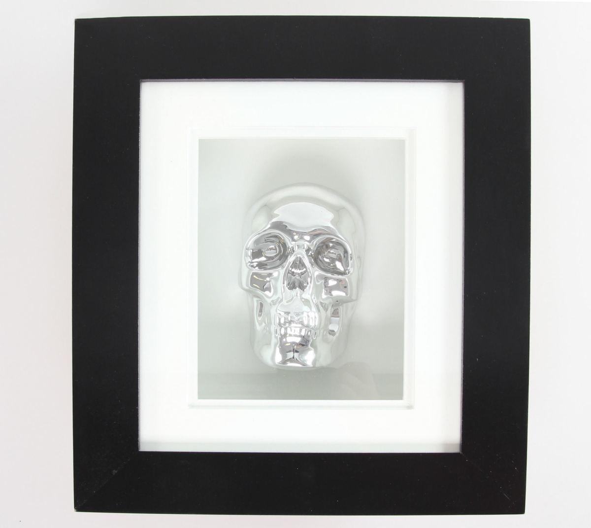 obraz Silver Skull In Frame - B0330B4