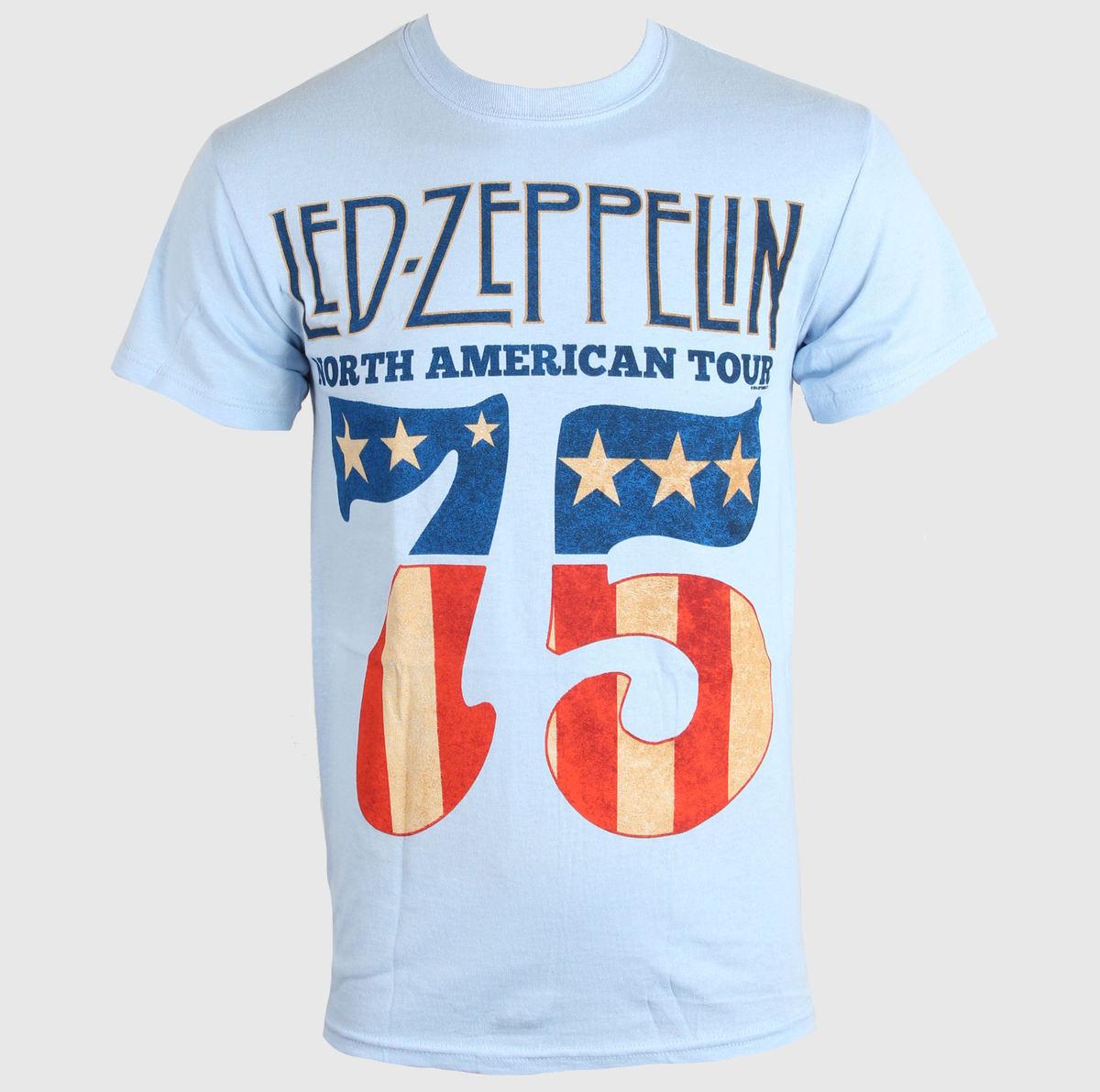 tričko pánské LED ZEPPELIN - US 75 - SKY BLUE - LIVE NATION - PELZE096