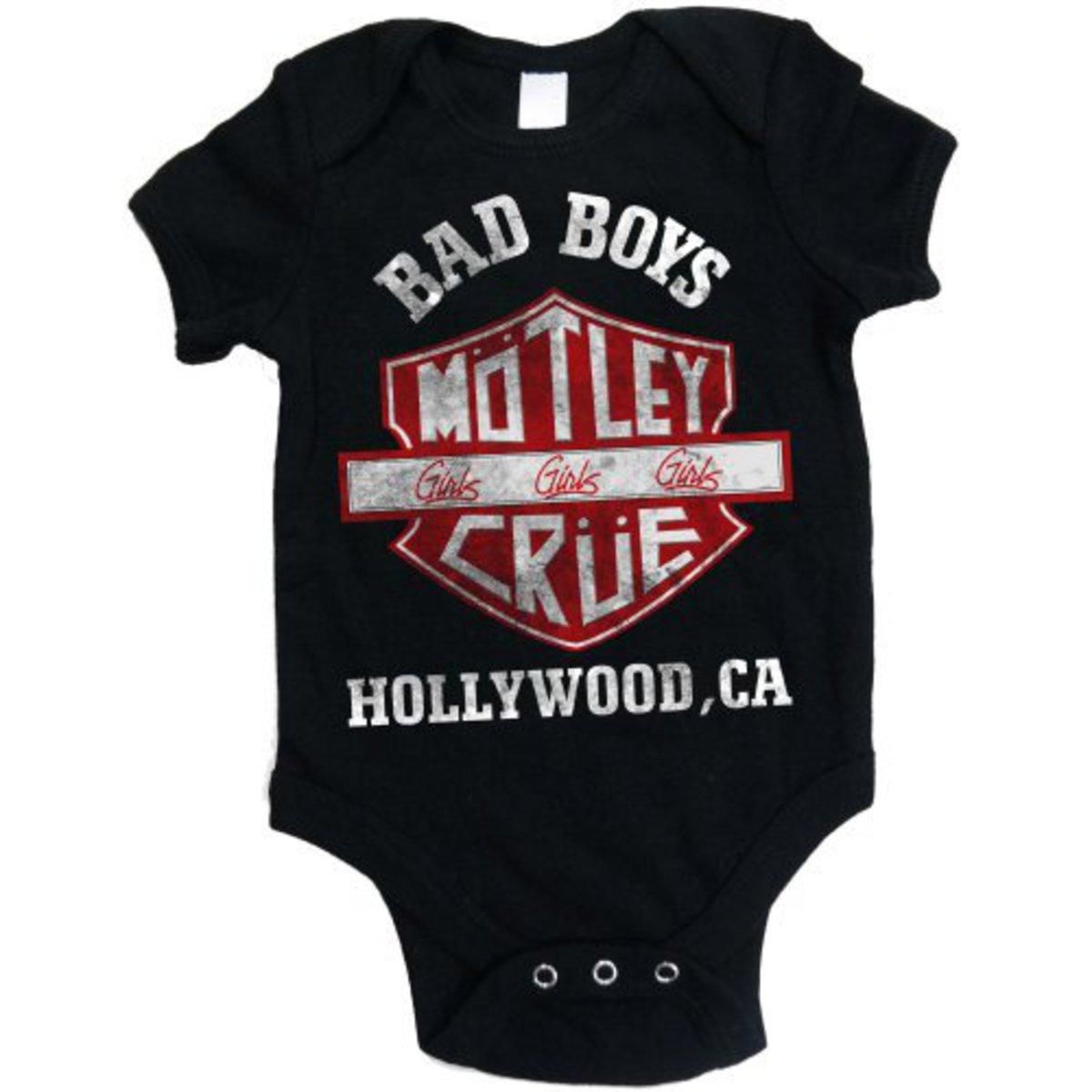 body dětské Mötley Crüe - Bad Boys Shield - ROCK OFF - MOTBG01CB