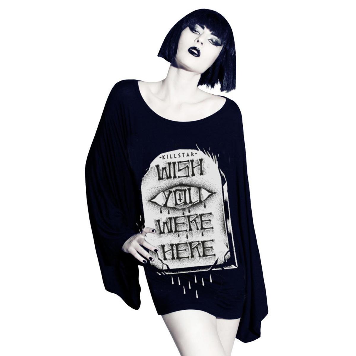 tričko dámské (tunika) KILLSTAR - WYWH Kimono - Black