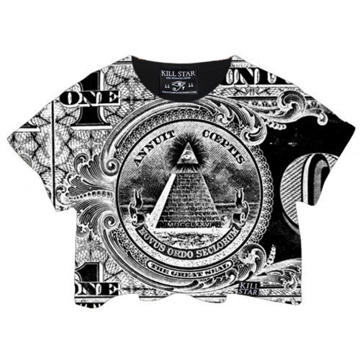 tričko dámské (top) KILLSTAR - Dollar Crop - Black
