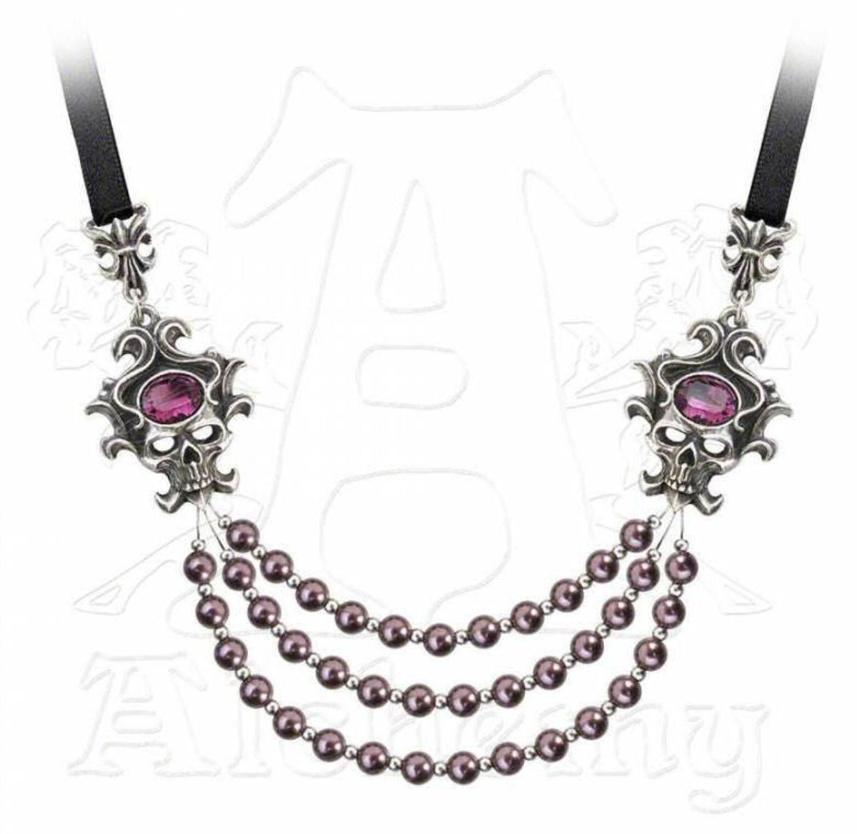 obojek ALCHEMY GOTHIC - The palatine Pearls Of The Underwor - P704