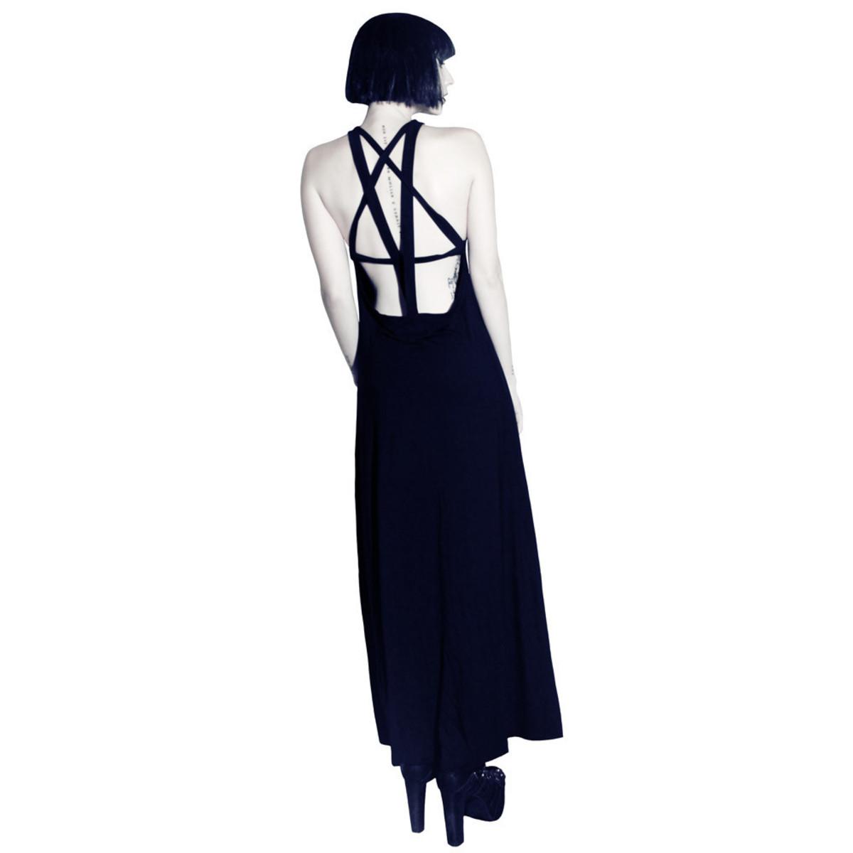 šaty dámské KILLSTAR - Pentagram Maxi - Black - KIL108 L