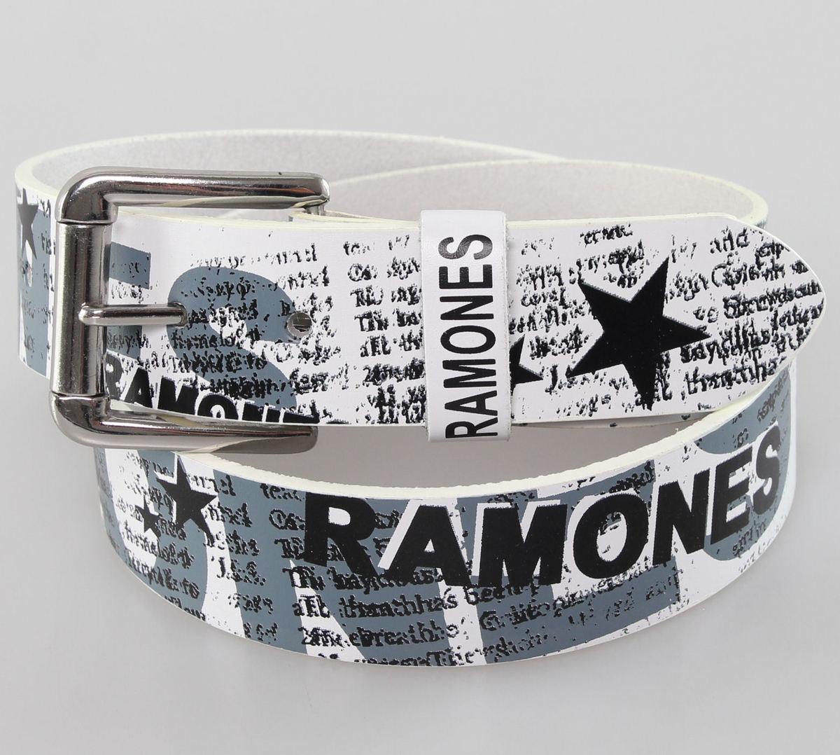 pásek Ramones - White - BIOWORLD - BT106126RAM M