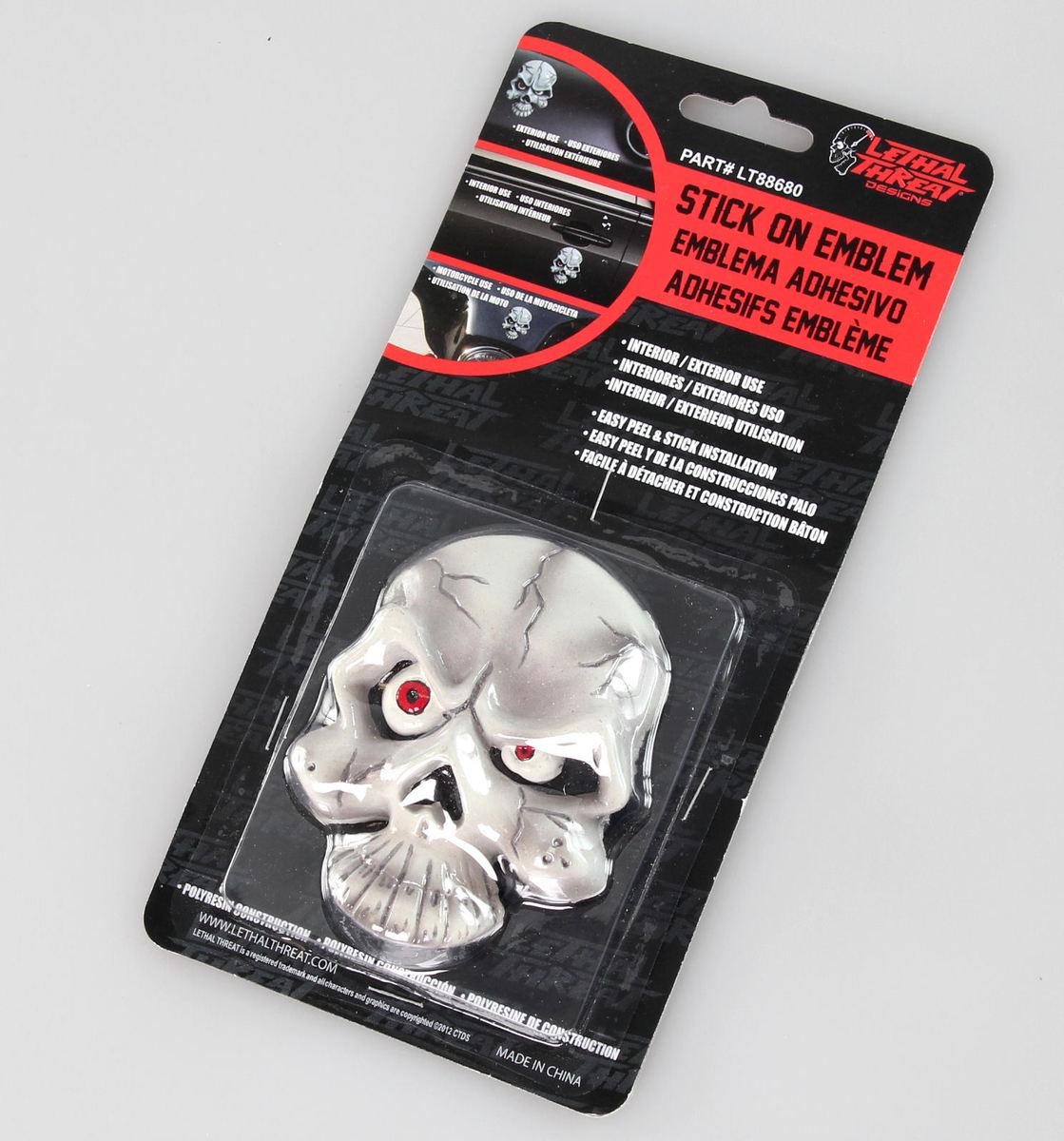 dekorace (na auto) LETHAL THREAT - Eyeball Skull Emblem - LT88680