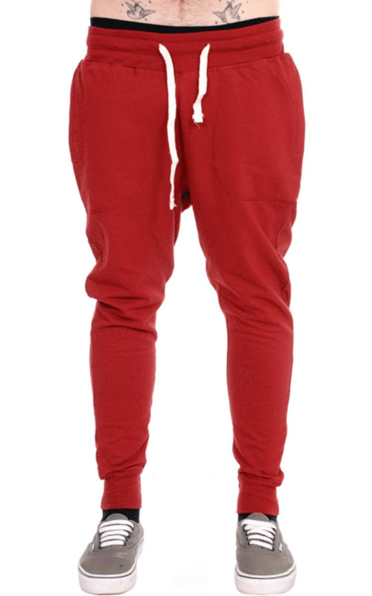 kalhoty unisex (tepláky) 3RDAND56th - Carrot Fit Jogger - Claret - JM1008