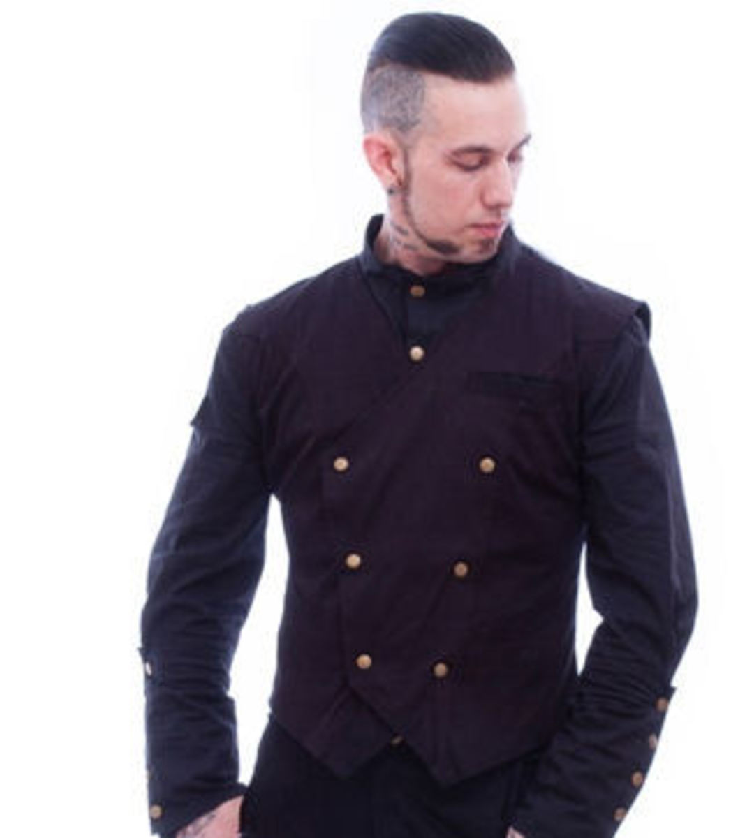 vesta pánská NECESSARY EVIL - Chronus Mens Steampunk - Black - N1095