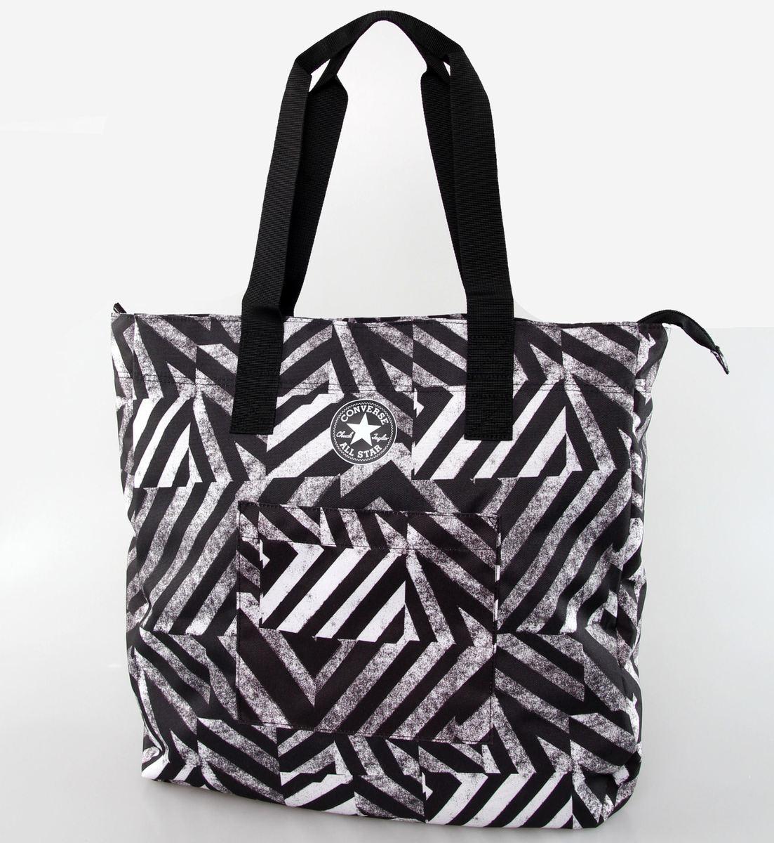 taška (plážová) CONVERSE - Beach - Black/White - 410905-919
