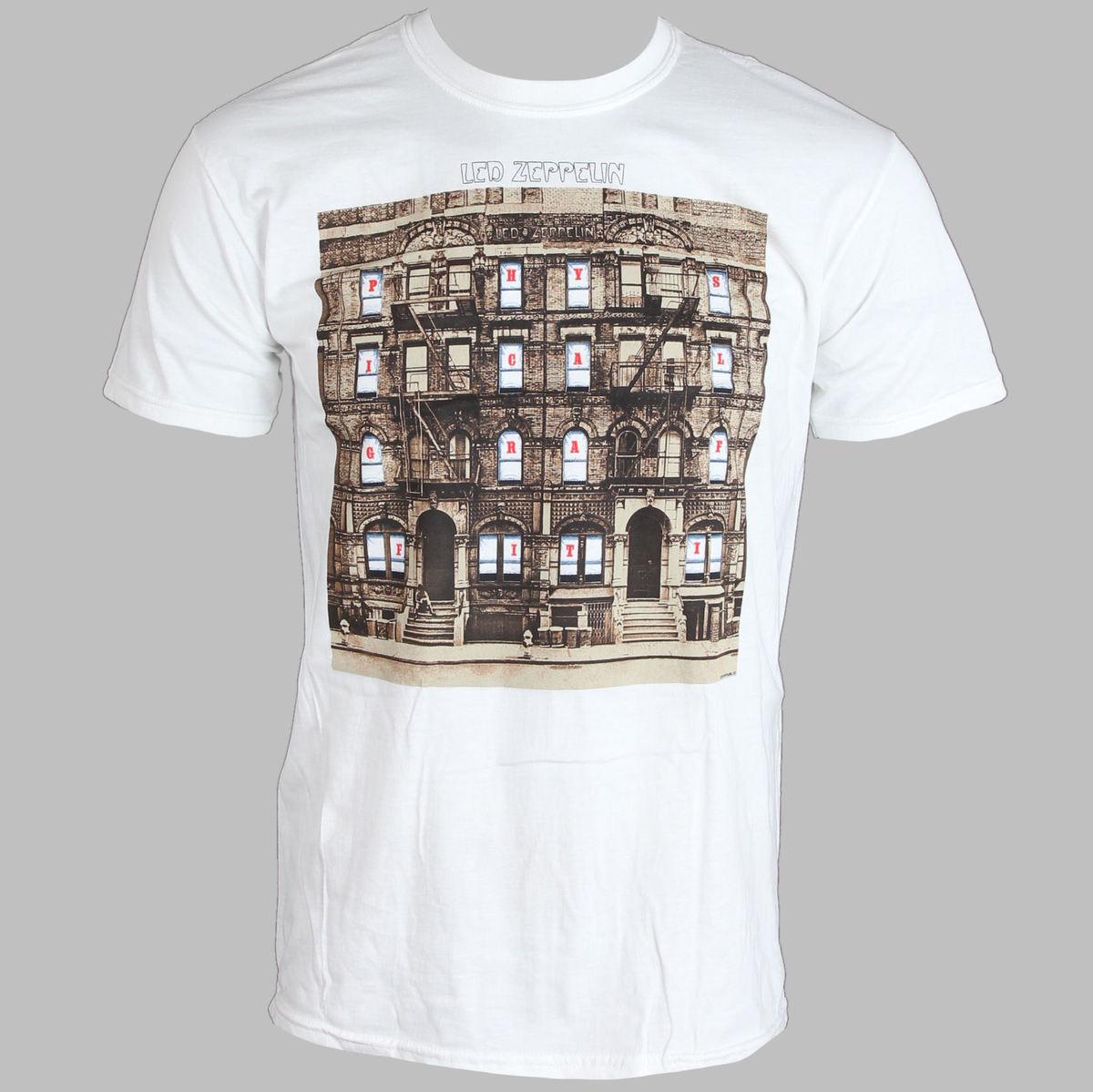 tričko pánské Led Zeppelin - Psychical Graffiti - White - LIVE NATION - PELZE104