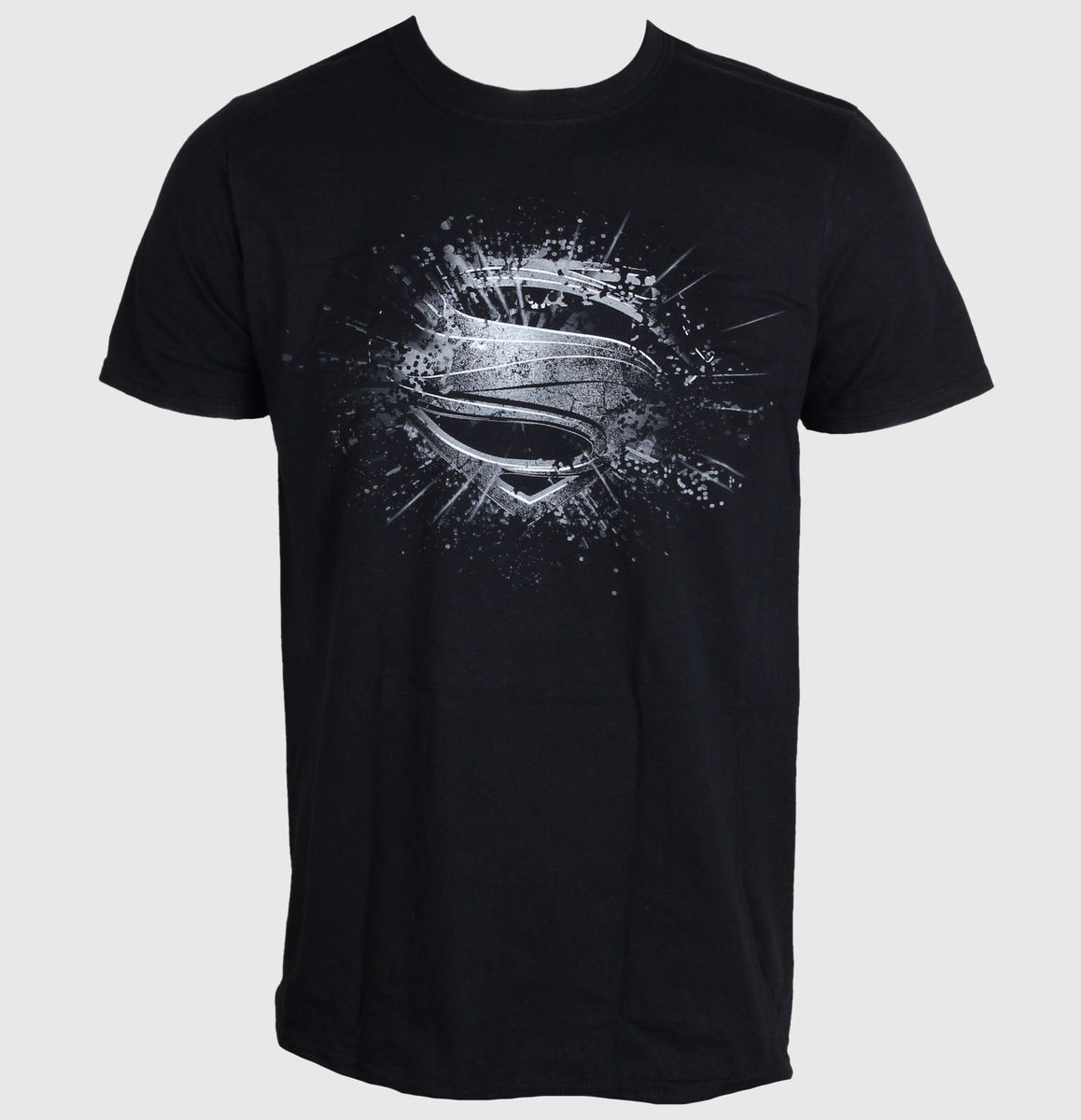tričko pánské Superman - Man Of Steel - Errored - Black - LIVE NATION - PE10769TSBP