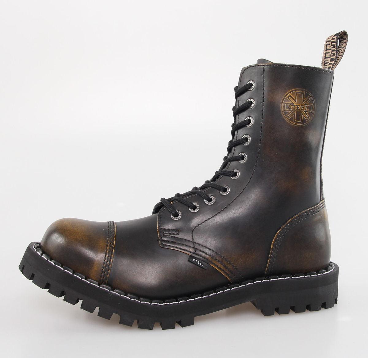 boty STEEL - 10 dírkové - Yellow/Black - 105/106