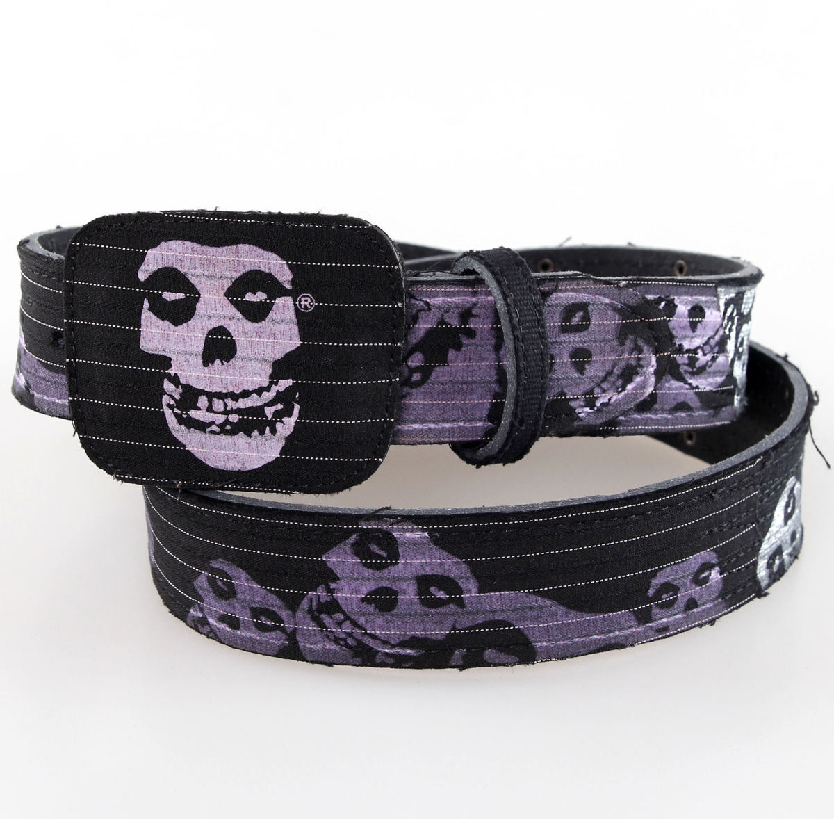 pásek Misfits - BIOWORLD - Black Leather - BT109173MIS4 L