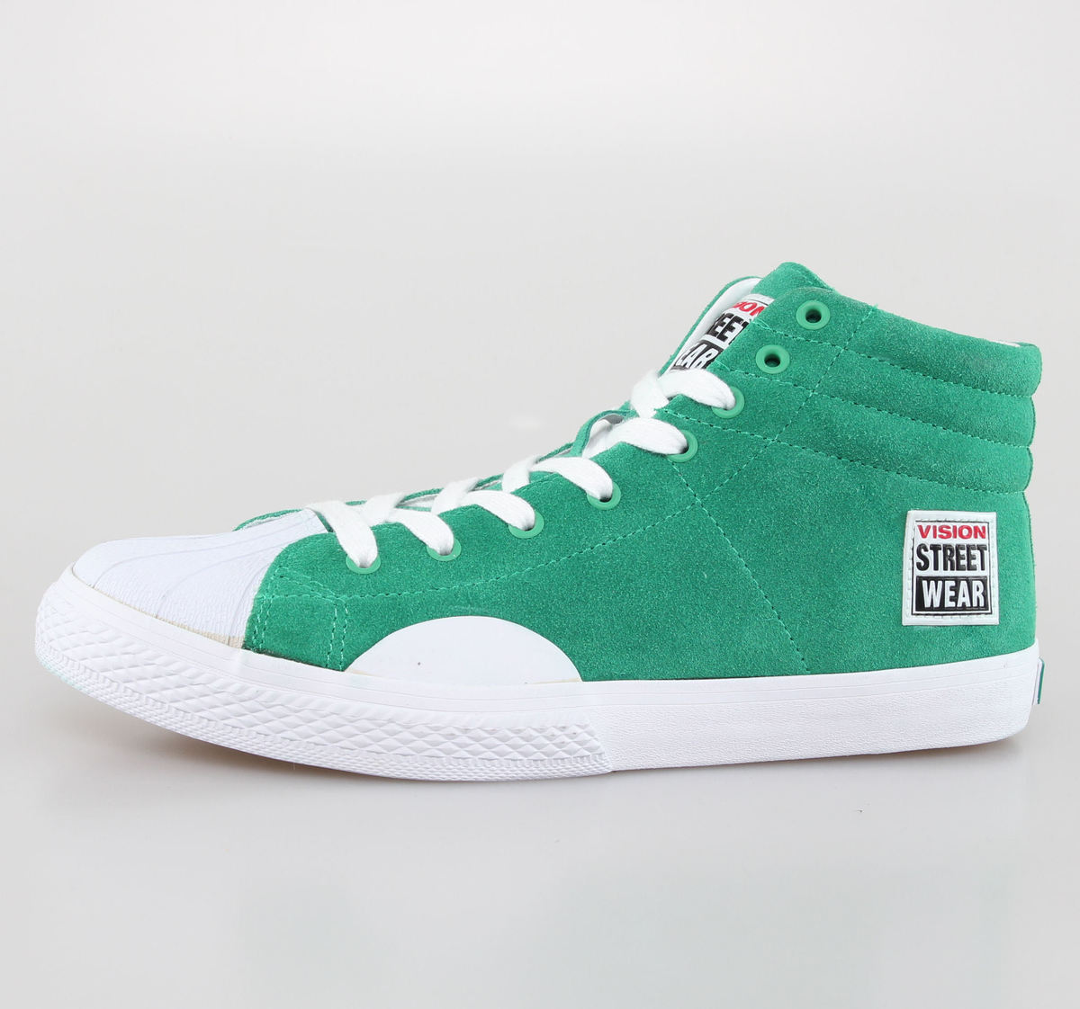boty pánské VISION - Suede HI - Pepper Green/White - VMF4FWSH01