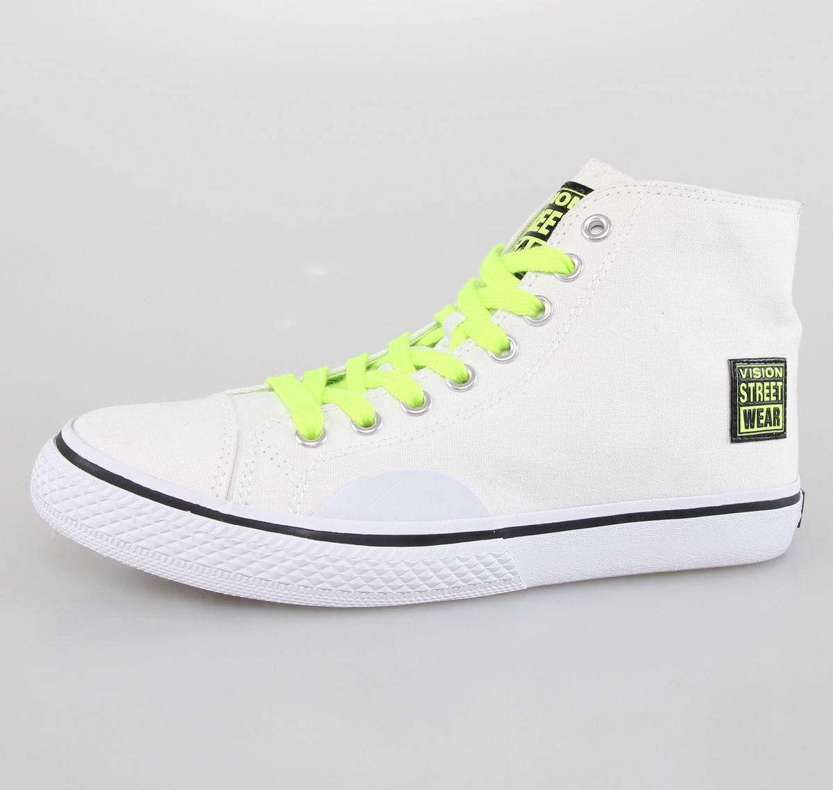 boty dámské VISION - Canvas HI - White/Safety Yellow - VWF4FWCH02